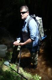 Pete with a kokopu