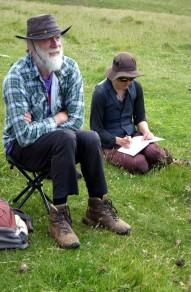 Nigel and Becky listening