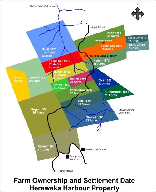 hereweka-farmsteads-map